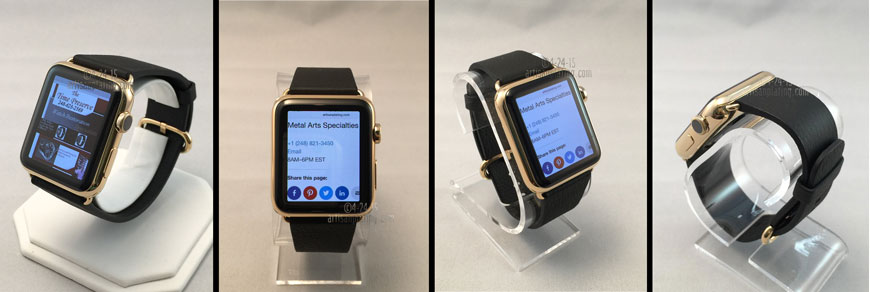 gold plated Apple watch 360 view