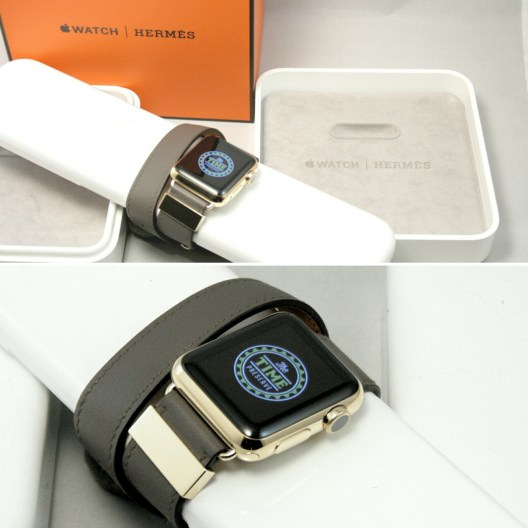 Gold Plated Apple Watch Hermès Double Tour