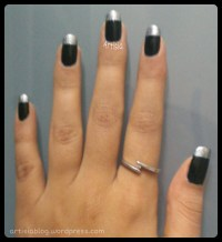 black and silver nail art | Artisia