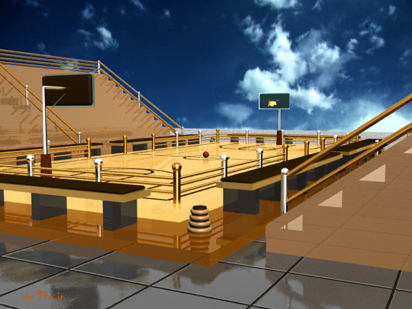 3d Wallpaper Designs For Hall Basketball Game Court Max 3ds Max Software