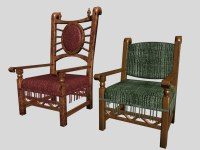 Medieval Antique Furniture, Chairs items, (.3ds) 3D Studio ...