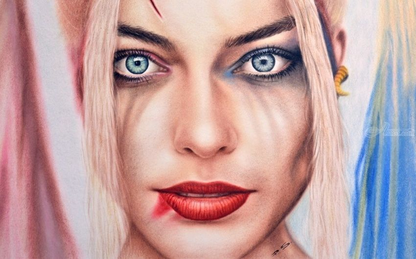 Hd Tattoo Girl Wallpaper Harley Quinn From Suicide Squad Margot Robbie Paintings