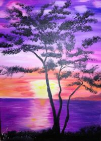 OIL PAINTING SUNSET WALL DECOR DESIGN Paintings by ...