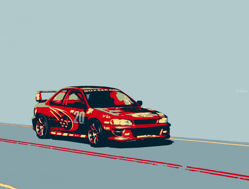 Car Wallpaper For Computer Put On Now Subaru Impreza Diesel Rally Car Digital Art Computer Art