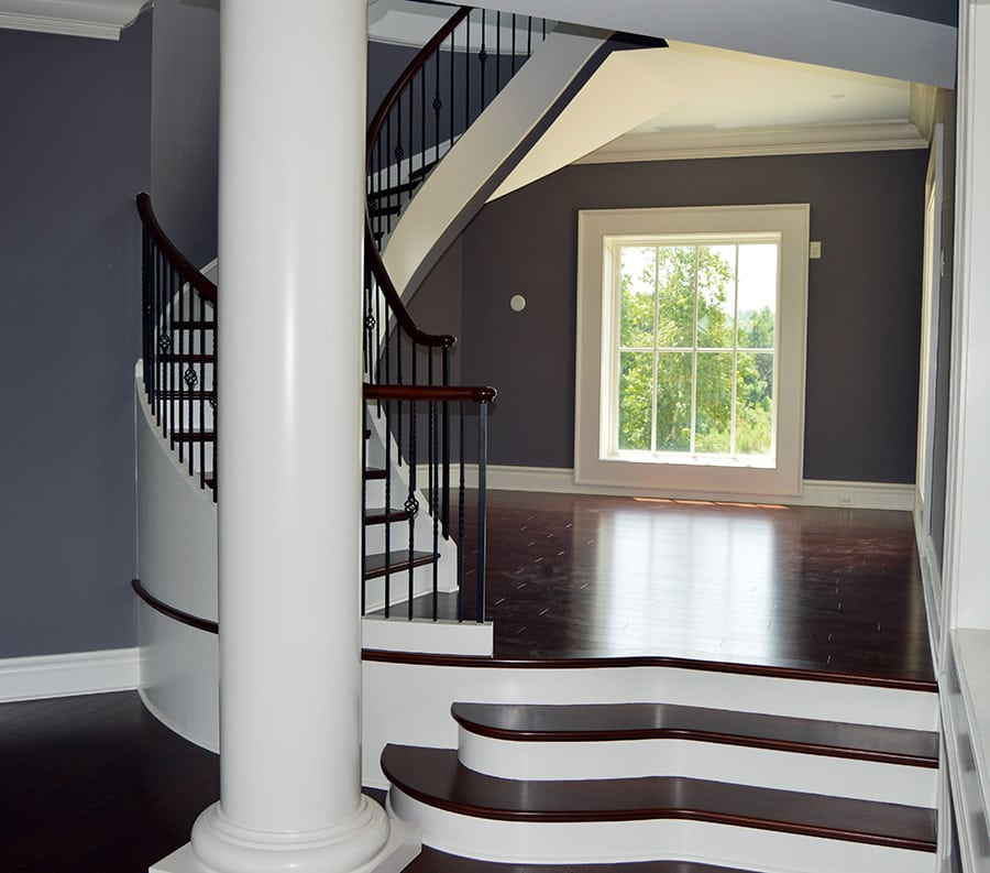 Rustic Furniture Curved Staircase | Curved Stairs | Round Staircase