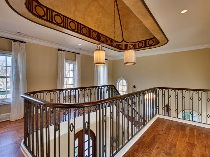Wrought Iron Railings And Wood Staircases Artistic Stairs
