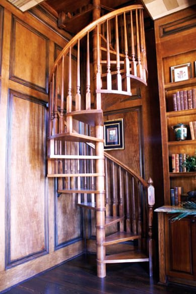 Tucson Home Builders Spiral Staircase | Spiral Stair Design | Southern