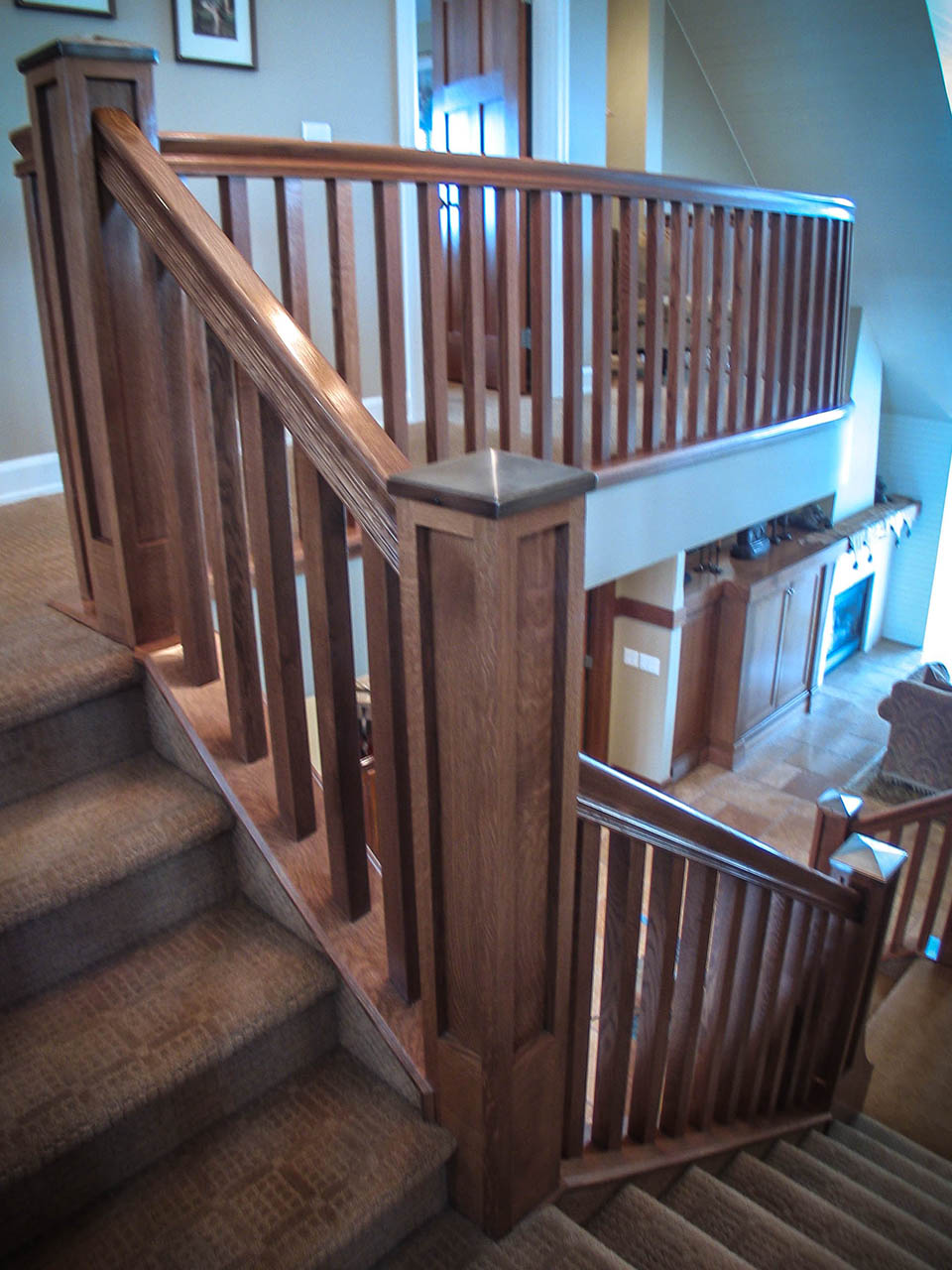 Tucson Architects Mission Style Staircase, Railings, Balusters | Artistic Stairs