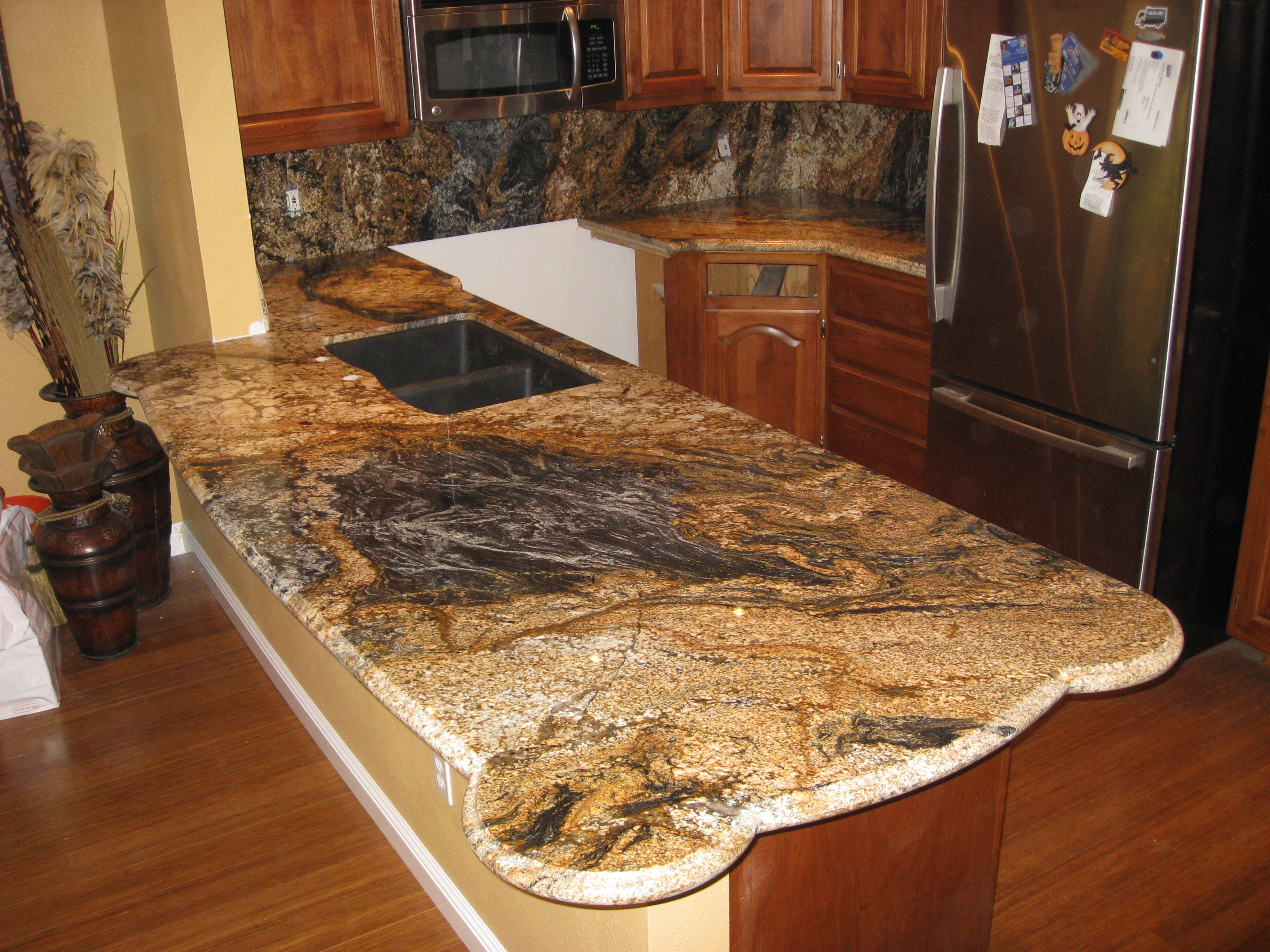 Kitchen Island Countertops Magma Gold Kitchen Slab | Counter Culture
