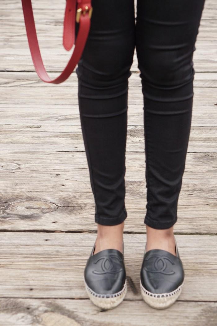 black chanel espadrilles
