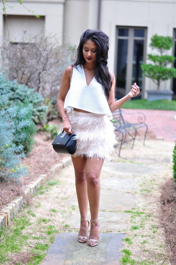 feather skirt for spring