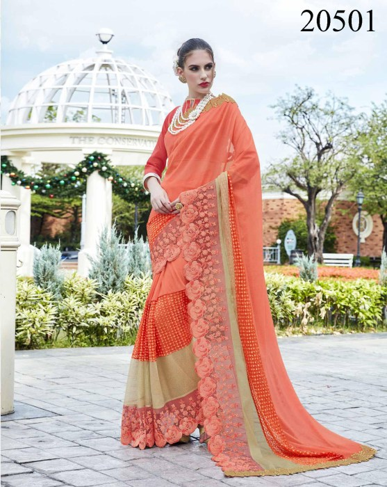 Big Embroidered Border Saree Noopur 20501