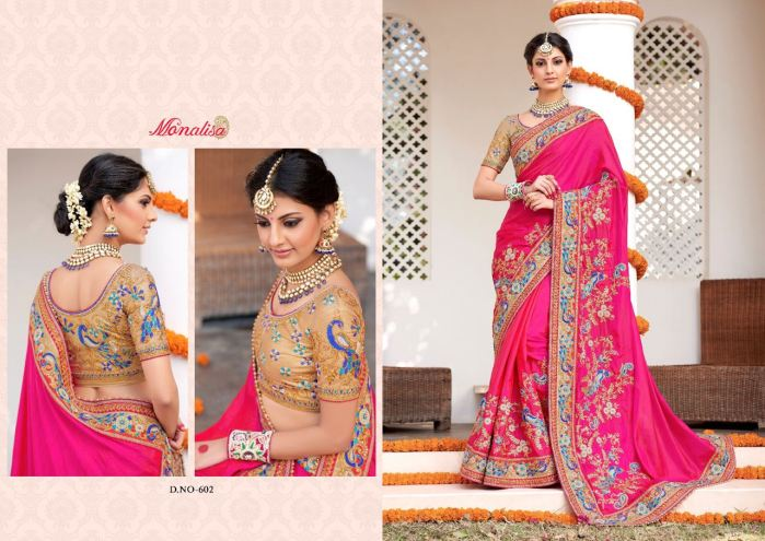Monalisa v6 Bridal Sarees MM602 | Bridal Wear for LadiesShop Online Monalisa v6 Bridal Sarees MM602 @ArtistryC | Best Price: Rs 6684 or $ 111 | Free shipping in India - International shipping