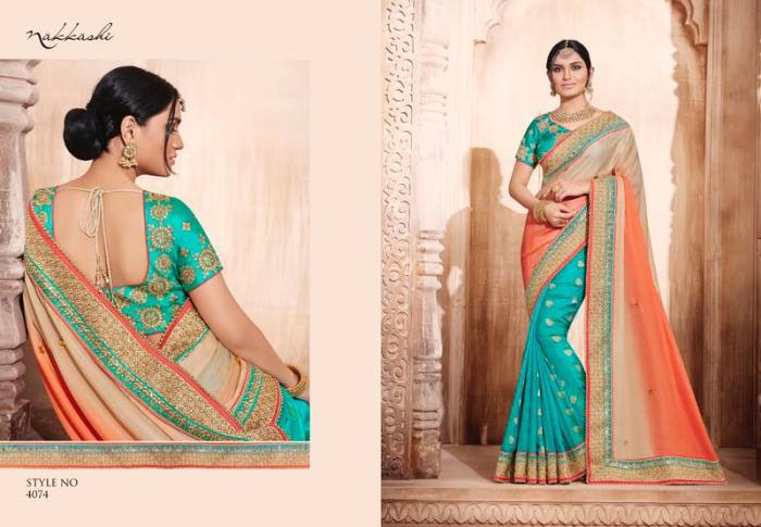 Nakkashi Elegance Euphony Designer Saree 4074 | Party Wear for LadiesShop Online Nakkashi Elegance Euphony Designer Saree 4074 @ArtistryC | Best Price: Rs 4525 or $ 75 | Free shipping in India - International shipping