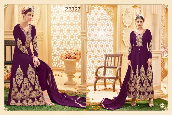 Floor Length Top with Churidar Jessica 22327 Ramdan Special