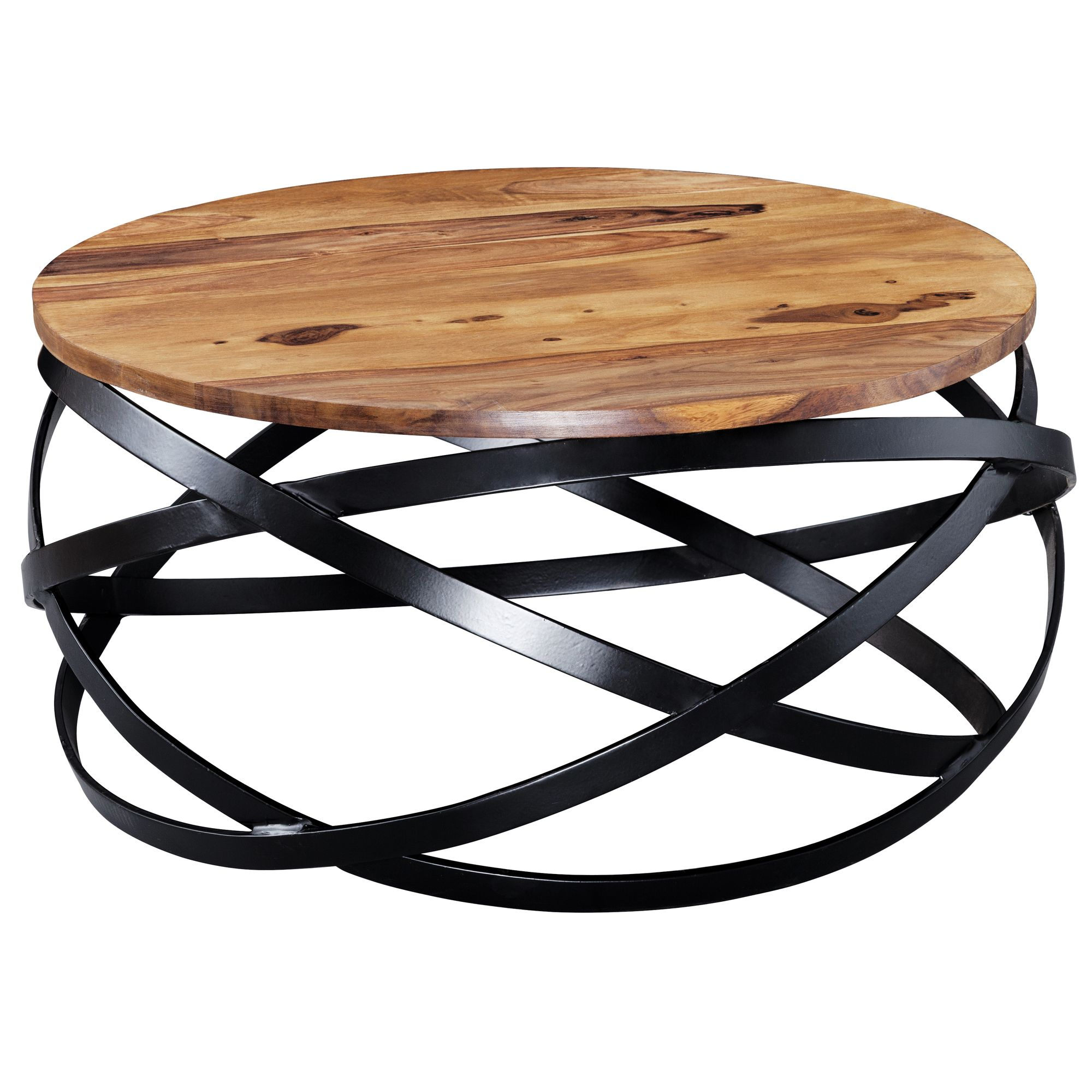 Wohnling Couchtisch Coffee Table Manur Sheesham Wood 60x60x30 Cm • Artkomfort