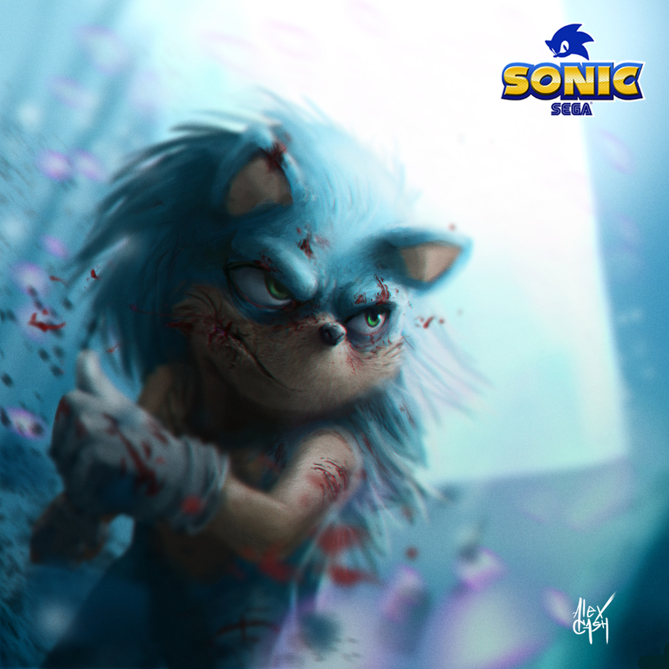 Sonic The Hedgehog by Alex Cash
