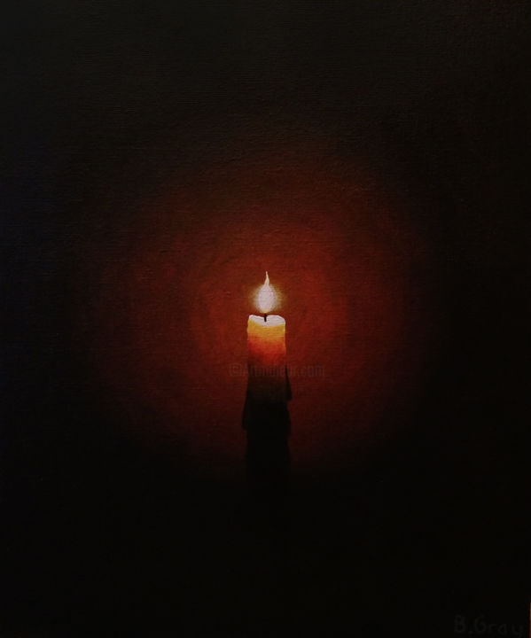 Candle Light Painting The Candle La Bougie Painting By Barry Gray Artmajeur