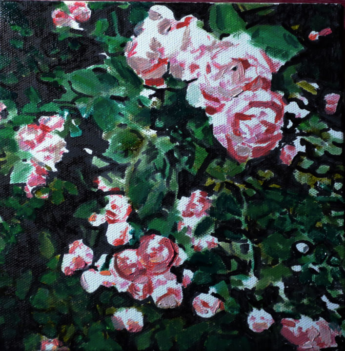 Deco Rosier Roses Painting By Théodore Bouret Artmajeur