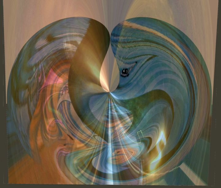 Arte Abstracto Amor Premonition Of Heartbreak Arte Digital Por David Callahan Artmajeur