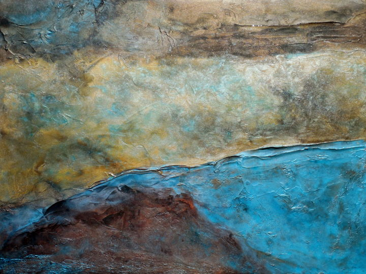 Contemporary Abstract Painting Wall Art Abstract Painting Rustic Modern Contemporary Landscape