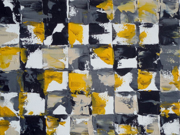 Black White And Gray Paintings Yellow And Gray Abstract Painting Holly Anderson Holly