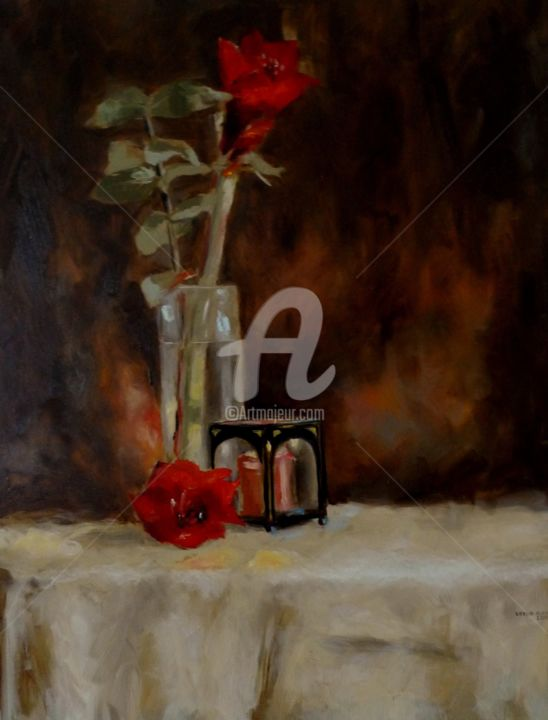 Candle Light Painting Still Life With Candle Light Painting By Karina Plachetka Artmajeur