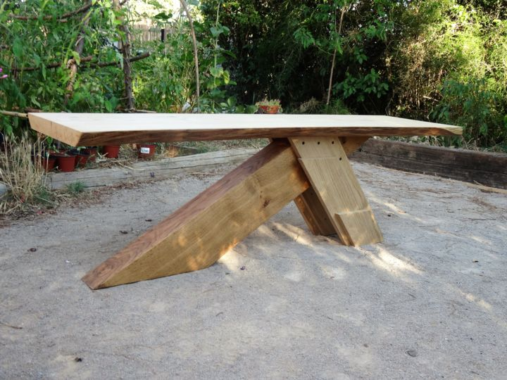 Table Chene Massif Rustique Table Basse Rustique En Bois Massif Artisanat Par Thomas Chatain