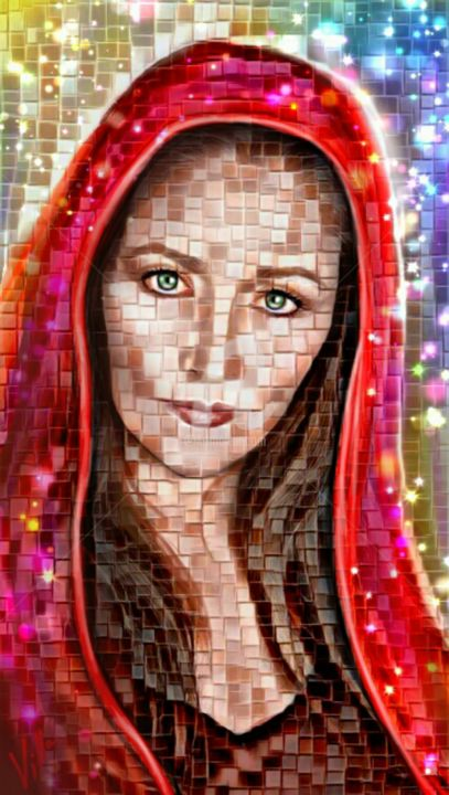 Poster Reproduction Tableau Marie Magdala Mosaïque Digital Arts By Tito Villa Artmajeur