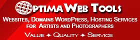 Optima Website Tools for Artists