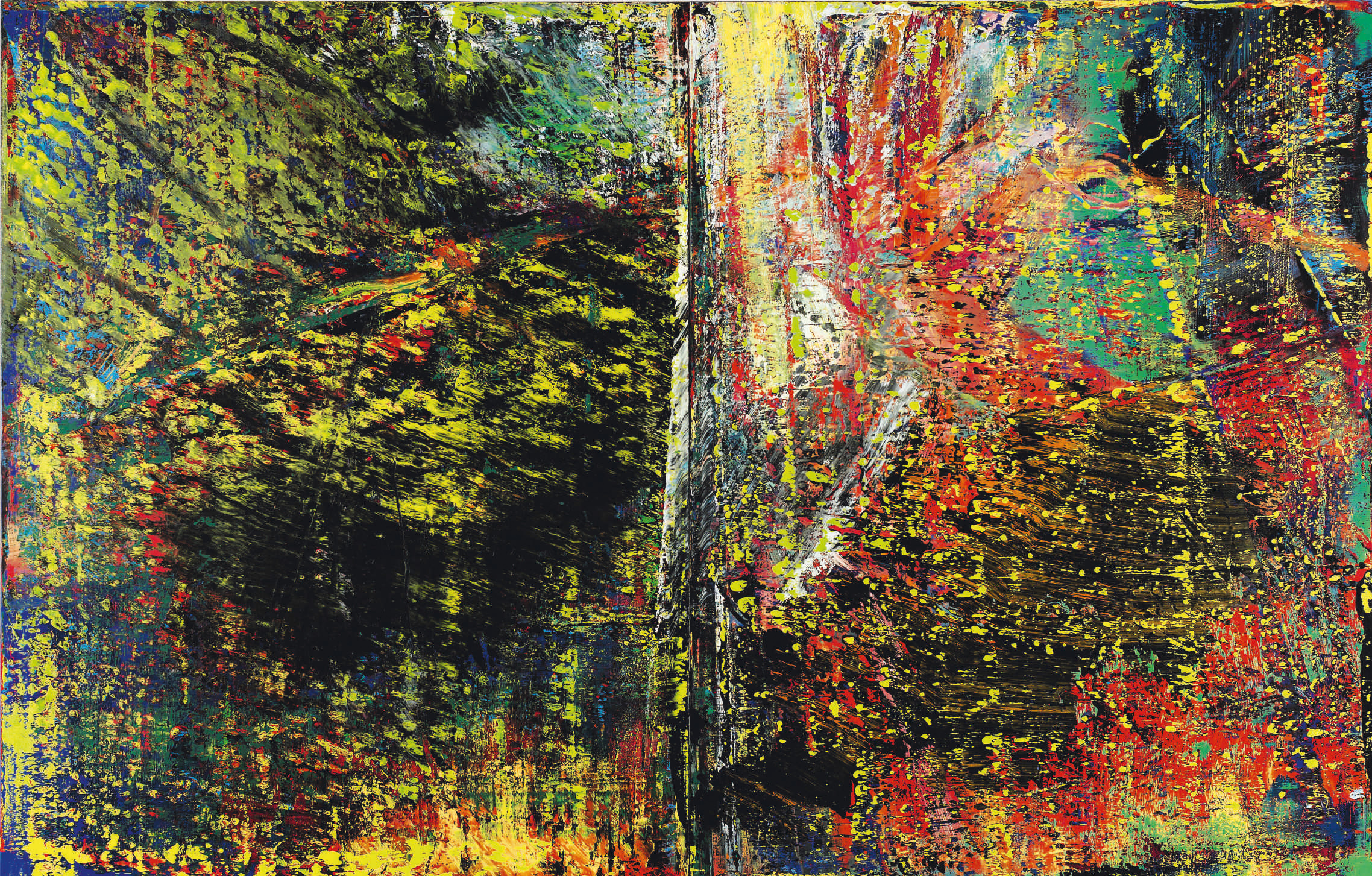 Abstrakte Bilder Gerhard Richter Sotheby S Announces 30m Richter Abstract Diptych For November