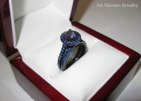 Wedding rings with engraved: Alexandrite wedding ring sets