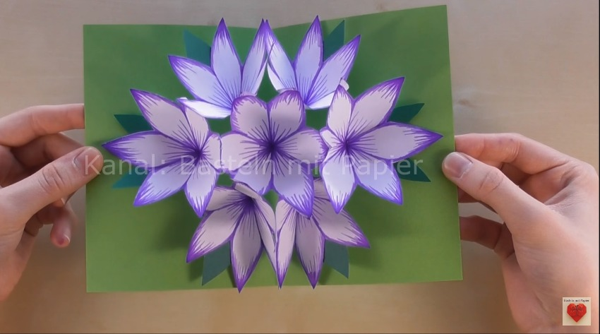 pop up paper flower card