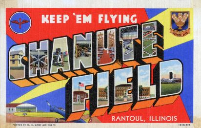 Chanute_Air_Force_Base_-_1940s_postcard
