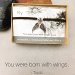 Fly Quote Jewelry| Born to Fly Bracelet | Inspirational Jewelry | Suede Bracelet