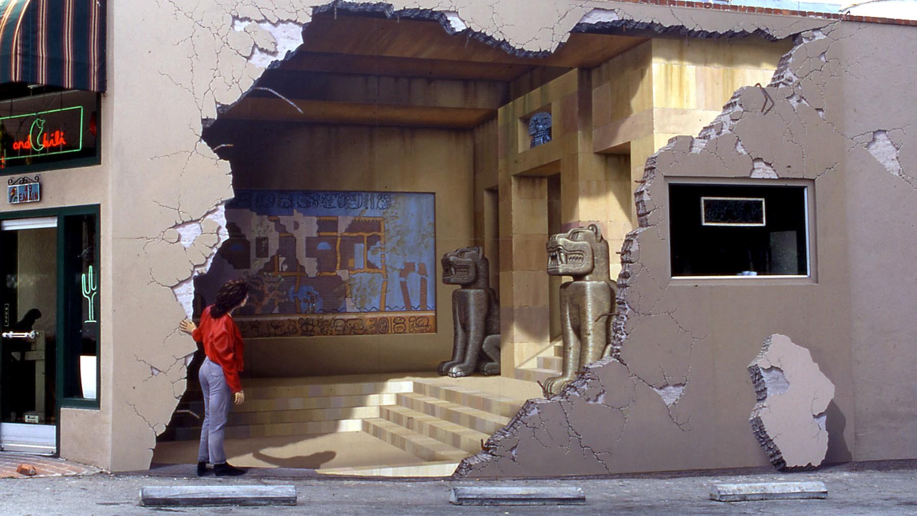 God Hand 3d Wallpaper Siete Punto Uno Los Gatos Ca Trompe L Oeil Mural By