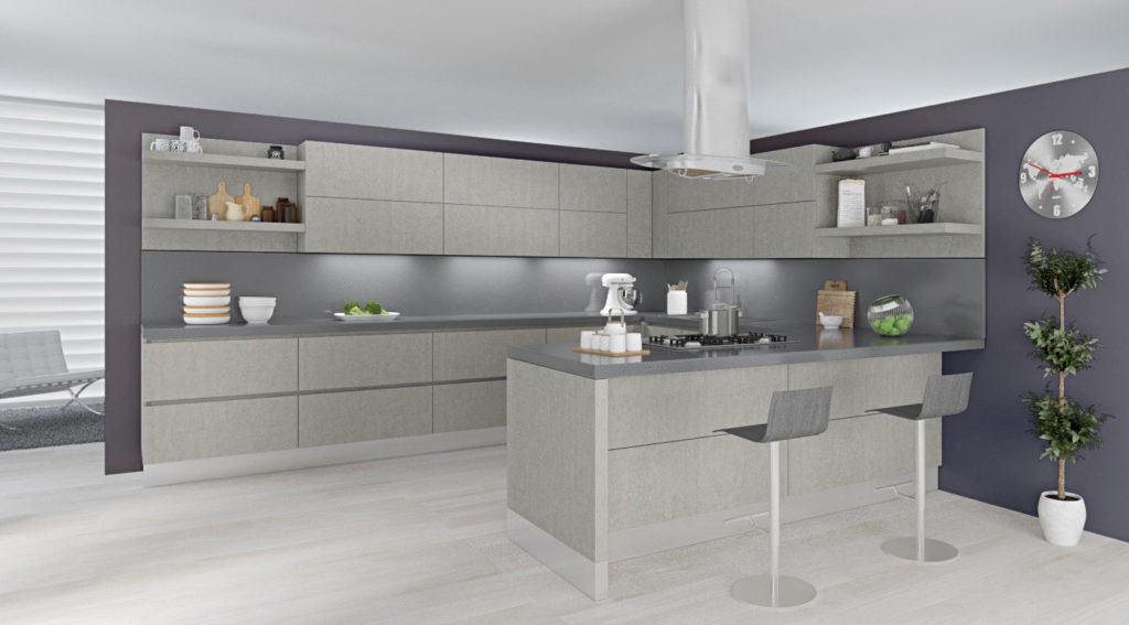 Wellington Ivory Kitchen Cabinets Alusso Natura Ares Beton | Kitchen Cabinets & Tiles, Nj