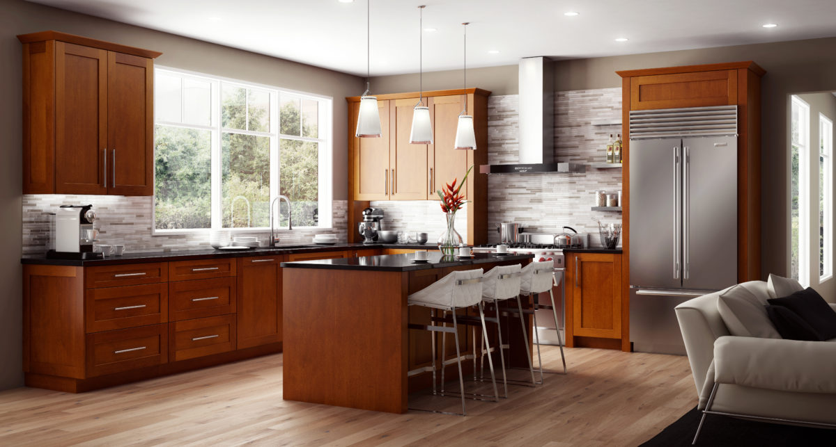 Wellington Ivory Kitchen Cabinets Cnc Cabinetry Concord Elegant Nutmeg | Kitchen Cabinets