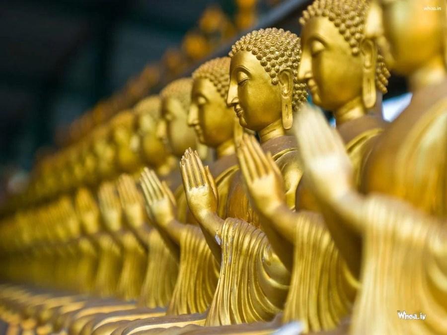 Multiple-Golden-Lord-Buddha-Samadhi-Statue-Wallpaper