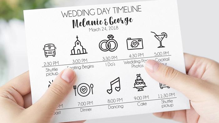 Sample Wedding Reception Timeline Checklist Wedding Day Timeline