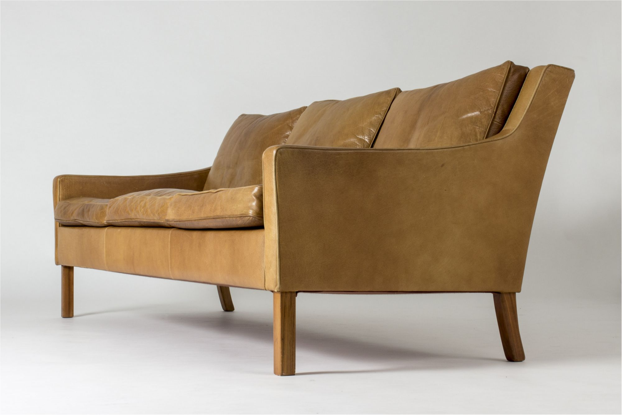 Leather Sofa By Ib Kofod Larsen