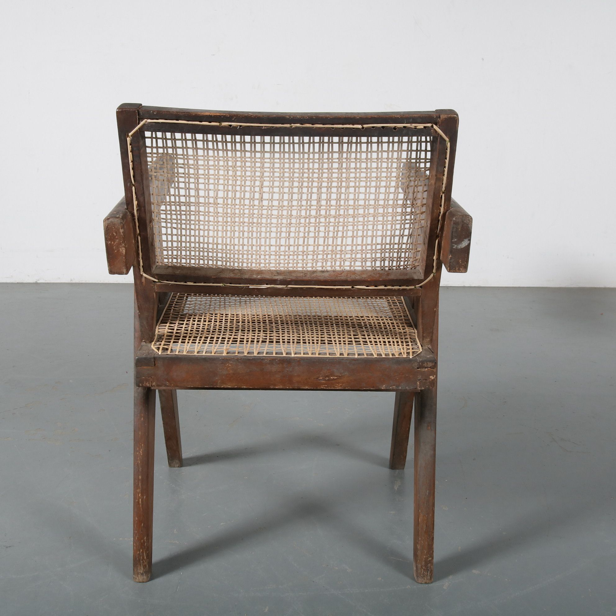 Pierre Jeanneret Office Cane Chair For Chandigarh India 1950