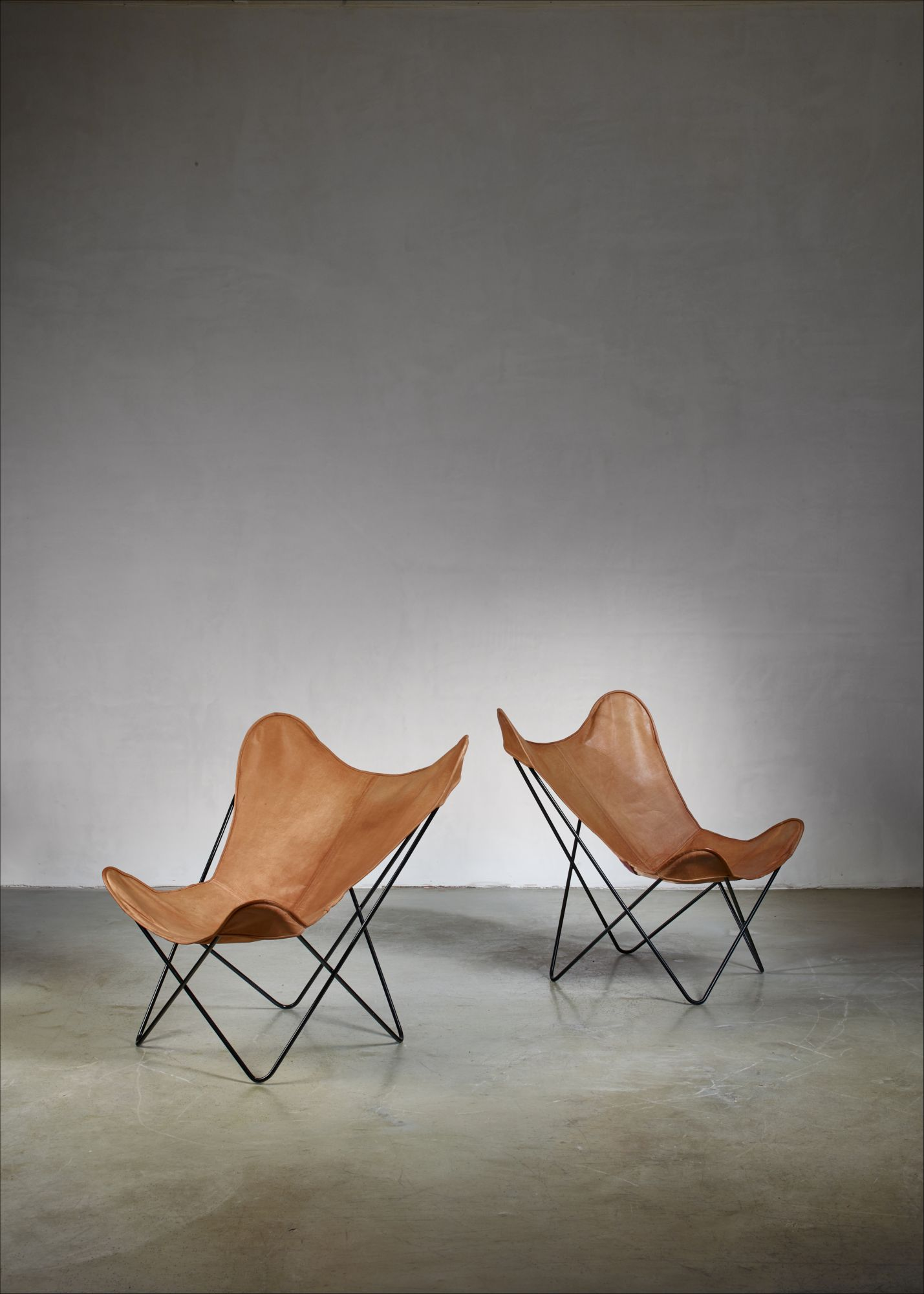 Butterfly Chair Knoll Pair Of Knoll Butterfly Chairs