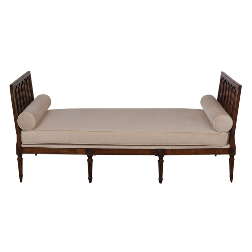 Chaise Style Louis 16 French Louis Xvi Style Walnut Daybed 1830 S