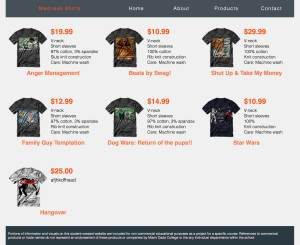 Madness Shirt Products page