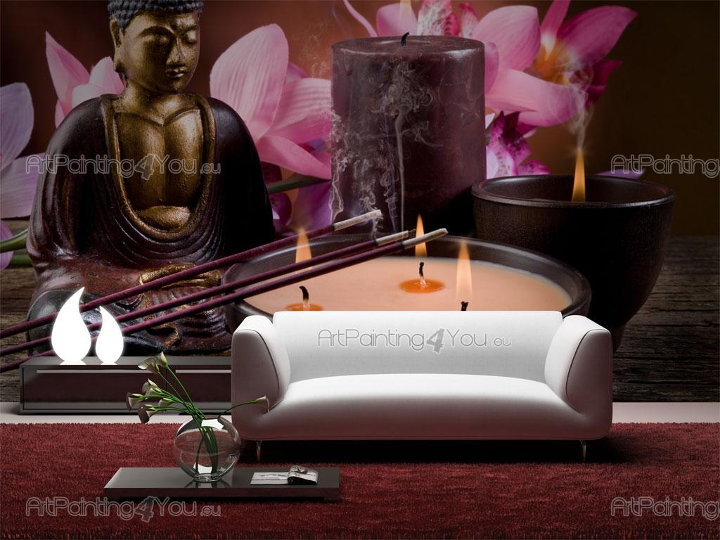 Black Text Wallpaper Wall Murals Amp Posters Buddha Statue Amp Orchids