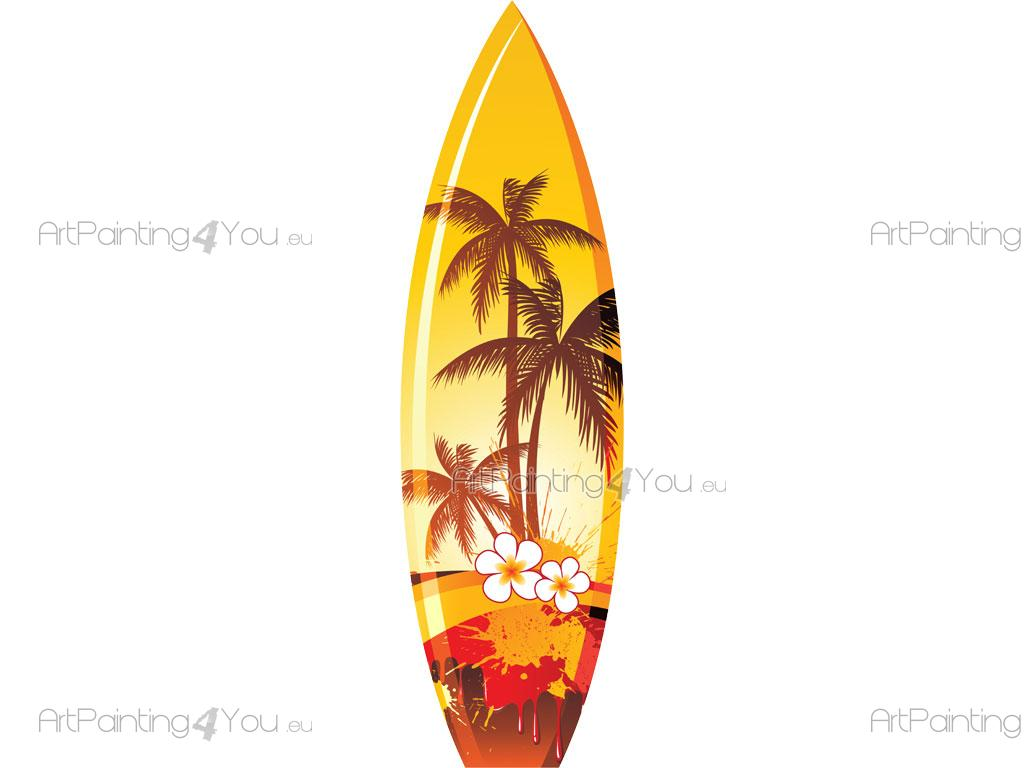 Tablas De Surf Decorativas Vinilos Decorativos Tabla Surf Artpainting4you Eu