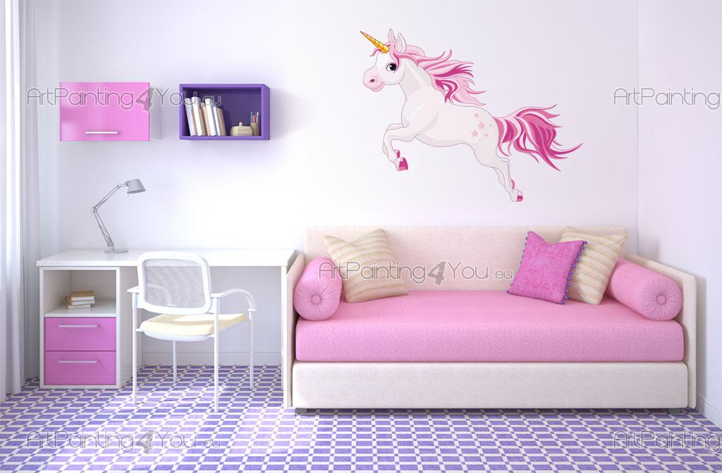Stickers Muraux Chambre Fille Licorne Artpainting4you Eu