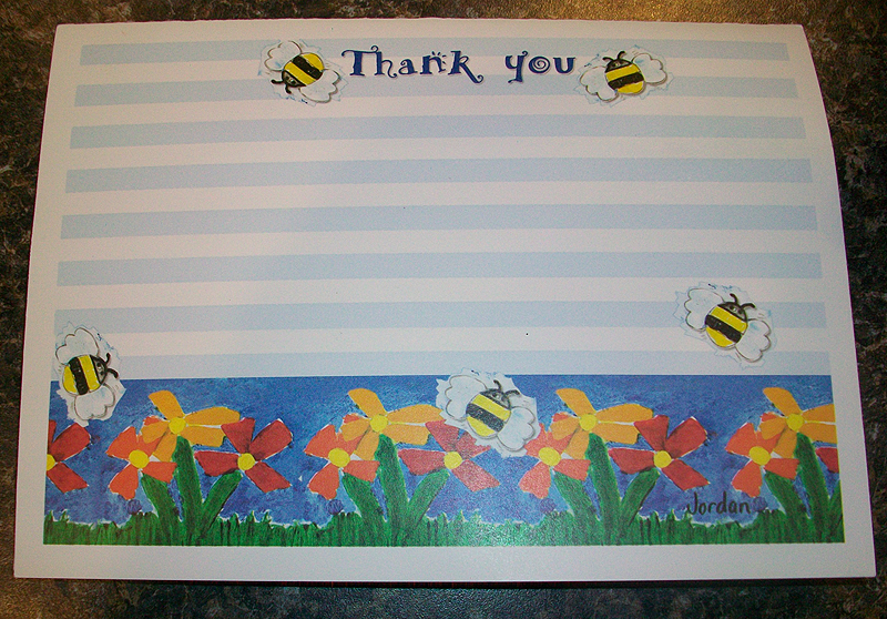 Thank You Card for DVD - VCR Tape Donation