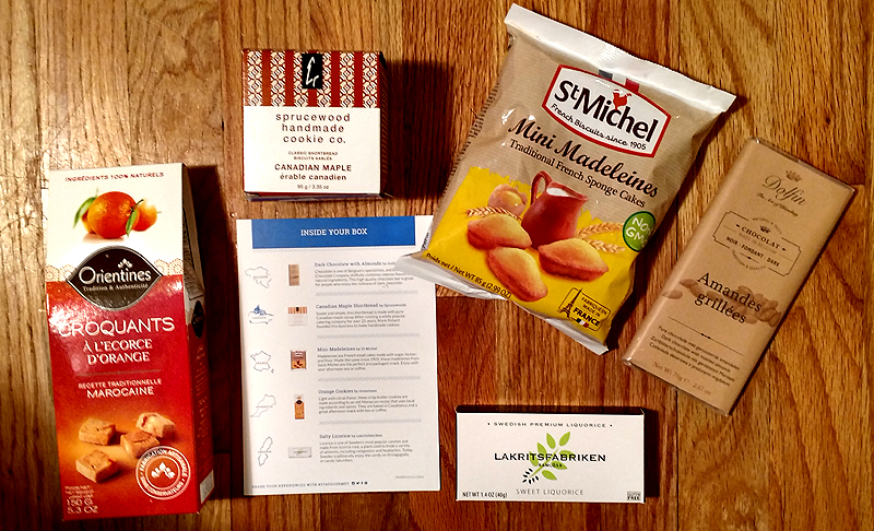 The Contents of a Try the World Pantry Box